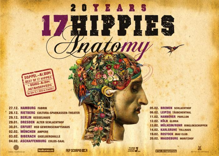 17 Hippies Tour-Plakat Anatomy